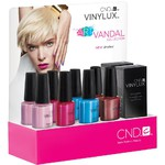 CND Vinylux Art Vandal Collection POP Display - 10 Pieces 7 Day Air Dry Nail Polish ()