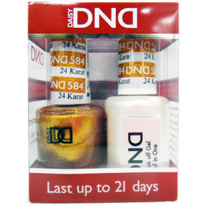 DND Duo GEL Pack - 24 KARAT 1 Gel Polish 0.47 oz. + 1 Lacquer 0.47 oz. in Matching Color (DND-G584)