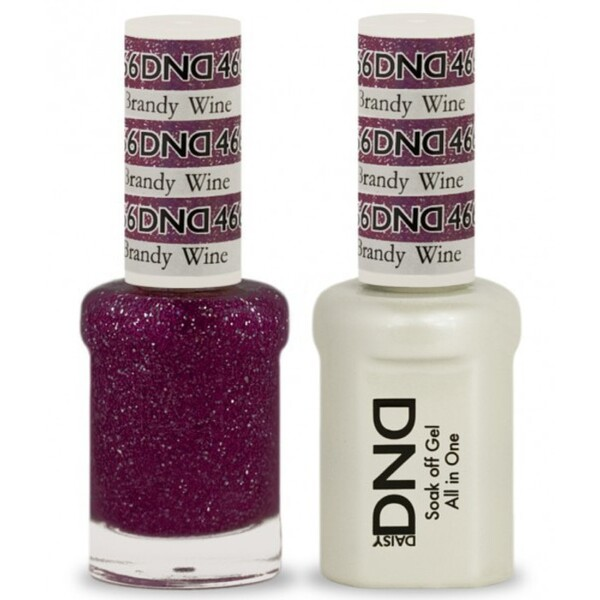 DND Duo GEL Pack - BRANDY WINE 1 Gel Polish 0.47 oz. + 1 Lacquer 0.47 oz. in Matching Color (DND-G466)
