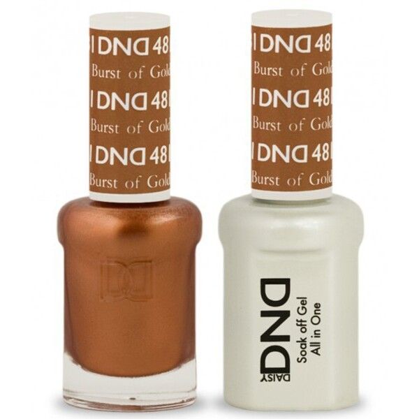 DND Duo GEL Pack - BURST OF GOLD 1 Gel Polish 0.47 oz. + 1 Lacquer 0.47 oz. in Matching Color (DND-G481)