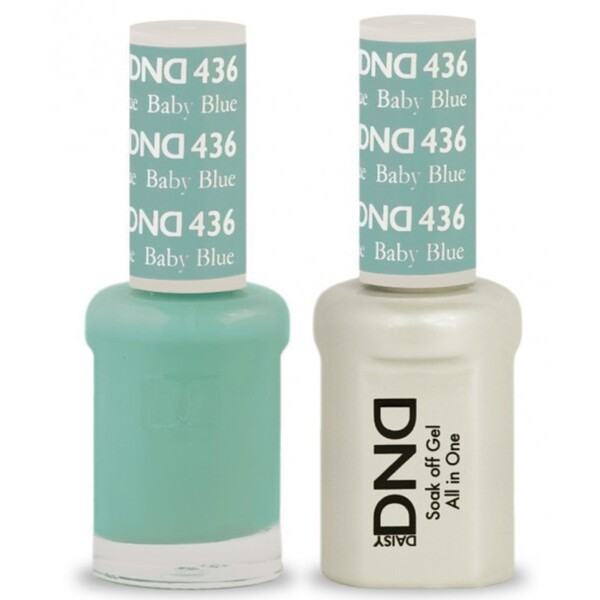 DND Duo GEL Pack - BABY BLUE 1 Gel Polish 0.47 oz. + 1 Lacquer 0.47 oz. in Matching Color (DND-G436)