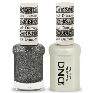 DND Duo GEL Pack - BLACK DIAMOND STAR 1 Gel Polish 0.47 oz. + 1 Lacquer 0.47 oz. in Matching Color (DND-G407)