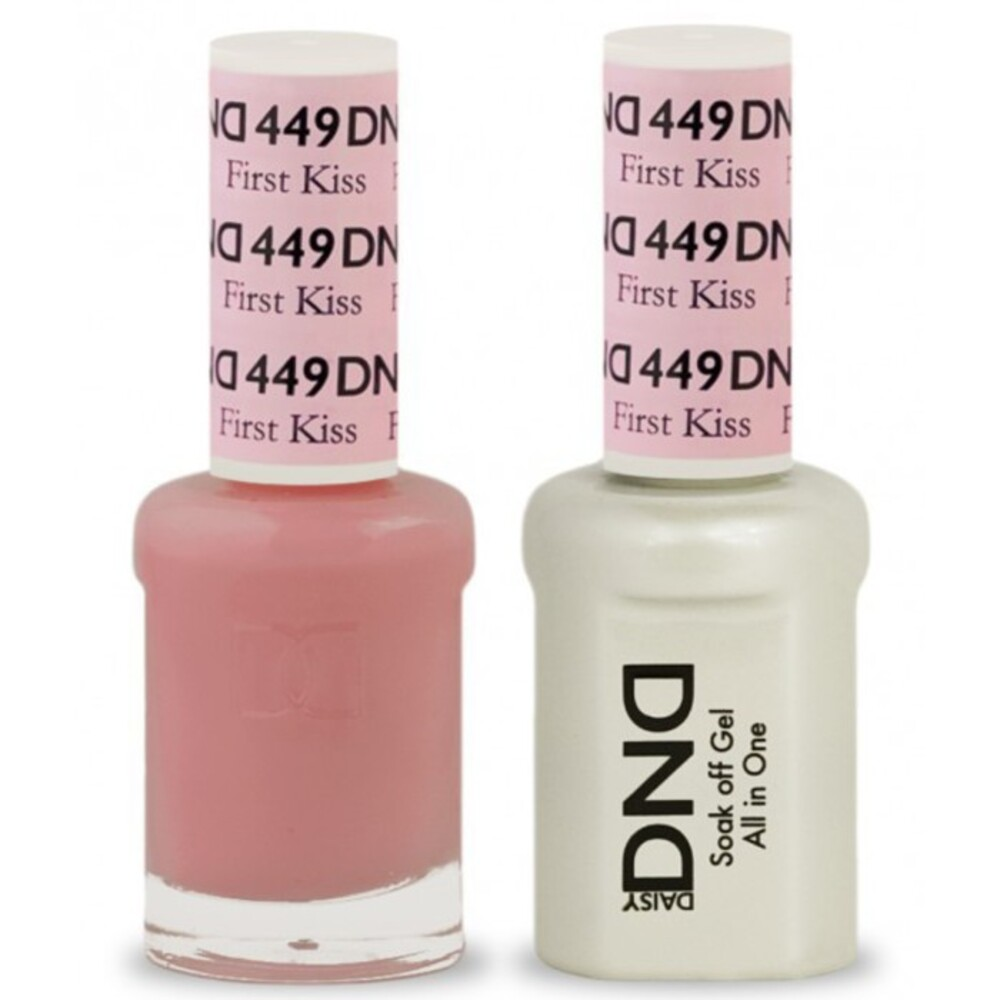 Dnd Duo Gel Pack First Kiss 1 Polish 0 47 Oz Lacquer In Matching Color