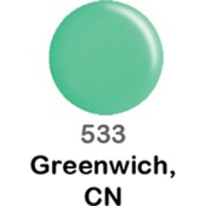 DND Duo GEL Pack - GREENWICH CN 1 Gel Polish 0.47 oz. + 1 Lacquer 0.47 oz. in Matching Color (DND-G533)
