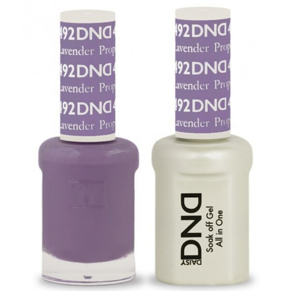 DND Duo GEL Pack - LAVENDER PROPHET 1 Gel Polish 0.47 oz. + 1 Lacquer 0.47 oz. in Matching Color (DND-G492)