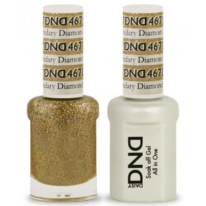 DND Duo GEL Pack - LEGENDARY DIAMOND 1 Gel Polish 0.47 oz. + 1 Lacquer 0.47 oz. in Matching Color (DND-G467)