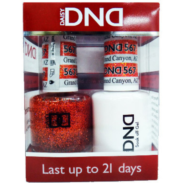 DND Duo GEL Pack - GRAND CANYON 1 Gel Polish 0.47 oz. + 1 Lacquer 0.47 oz. in Matching Color (DND-G567)