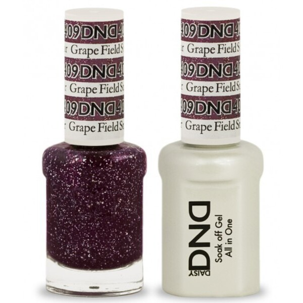 DND Duo GEL Pack - GRAPE FIELD STAR 1 Gel Polish 0.47 oz. + 1 Lacquer 0.47 oz. in Matching Color (DND-G409)
