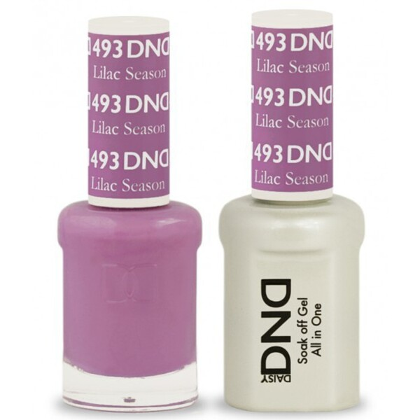 DND Duo GEL Pack - LILAC SEASON 1 Gel Polish 0.47 oz. + 1 Lacquer 0.47 oz. in Matching Color (DND-G493)