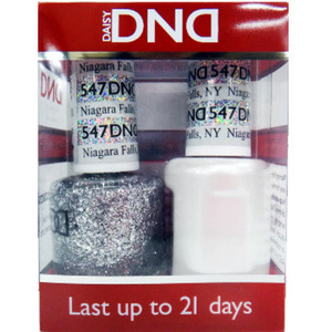 DND Duo GEL Pack - NIAGARA FALLS NY 1 Gel Polish 0.47 oz. + 1 Lacquer 0.47 oz. in Matching Color (DND-G547)