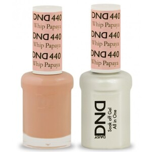 DND Duo GEL Pack - PAPAYA WHIP 1 Gel Polish 0.47 oz. + 1 Lacquer 0.47 oz. in Matching Color (DND-G440)