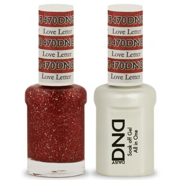 DND Duo GEL Pack - LOVE LETTER 1 Gel Polish 0.47 oz. + 1 Lacquer 0.47 oz. in Matching Color (DND-G470)