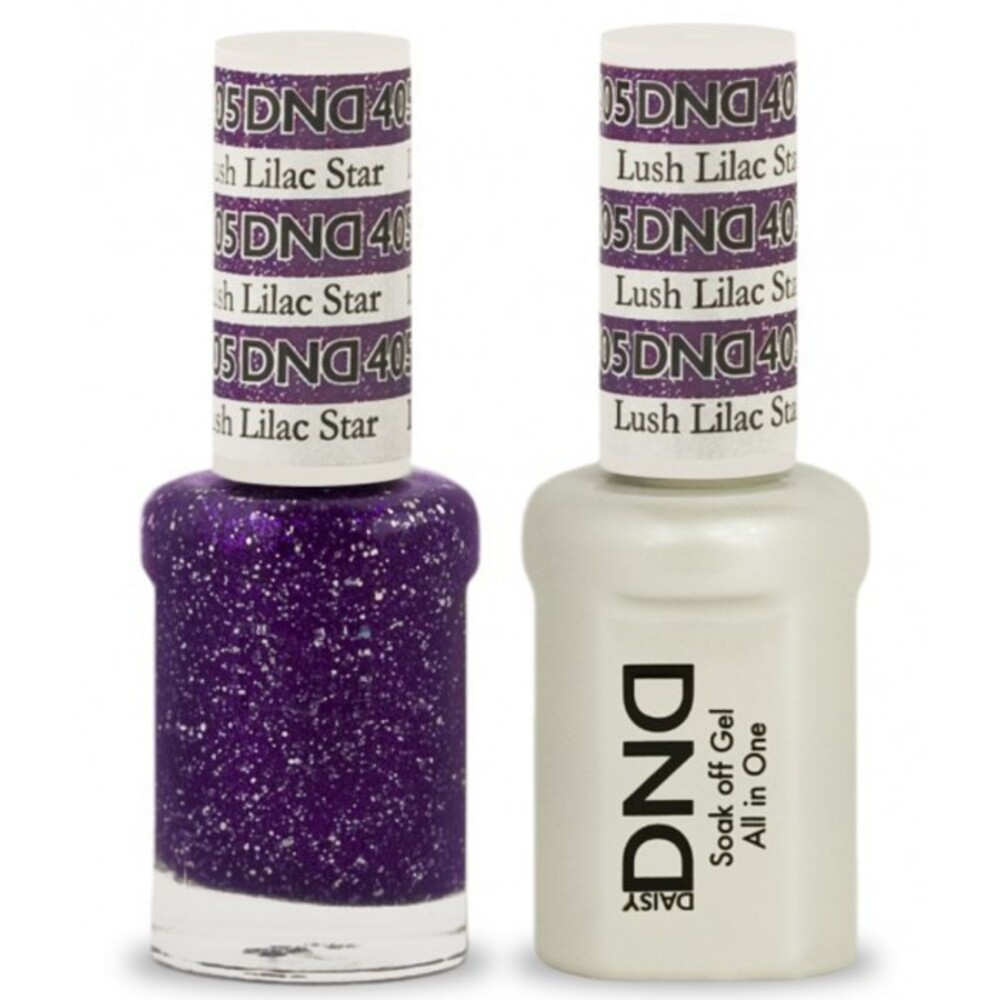 DND Duo GEL Pack - LUSH LILAC STAR 1 Gel Polish 0.47 oz. + 1 Lacquer ...