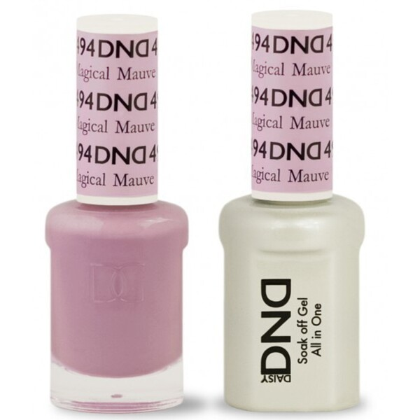 DND Duo GEL Pack - MAGICAL MAUVE 1 Gel Polish 0.47 oz. + 1 Lacquer 0.47 oz. in Matching Color (DND-G494)