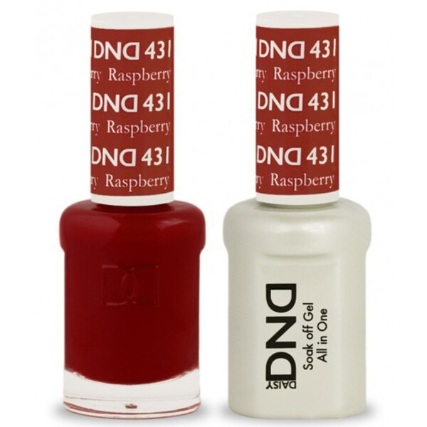 DND Duo GEL Pack - RASPHERRY 1 Gel Polish 0.47 oz. + 1 Lacquer 0.47 oz. in Matching Color (DND-G431)