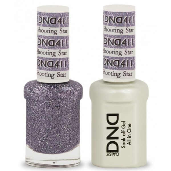 DND Duo GEL Pack - SHOOTING STAR 1 Gel Polish 0.47 oz. + 1 Lacquer 0.47 oz. in Matching Color (DND-G411)