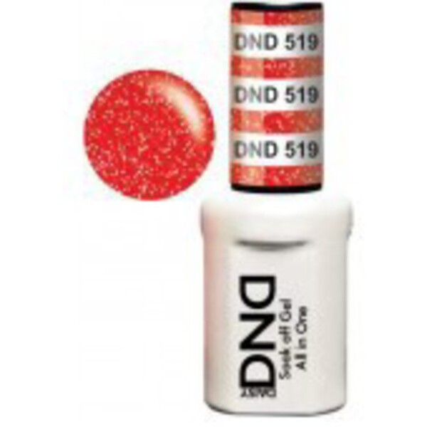 DND Duo GEL Pack - STRAWBERRY CANDY 1 Gel Polish 0.47 oz. + 1 Lacquer 0.47 oz. in Matching Color (DND-G519)