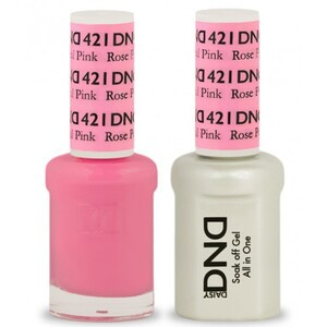 DND Duo GEL Pack - ROSE PETAL PINK 1 Gel Polish 0.47 oz. + 1 Lacquer 0.47 oz. in Matching Color (DND-G421)