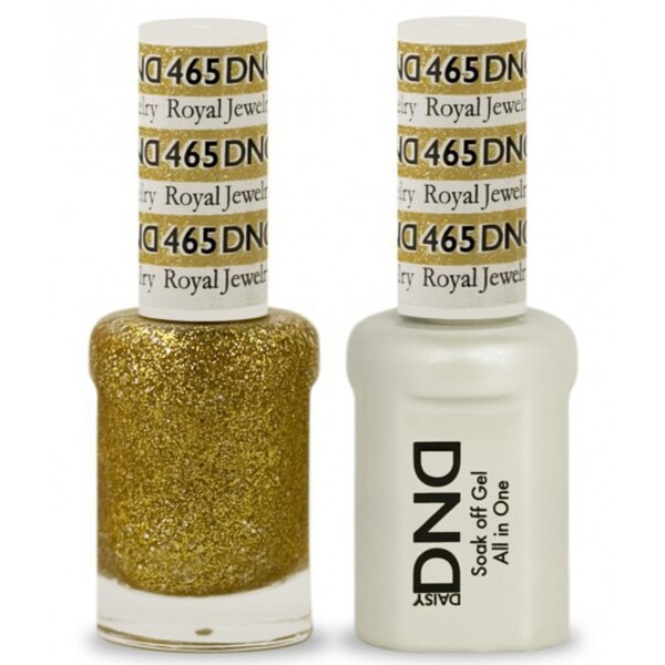 DND Duo GEL Pack - ROYAL JEWELRY 1 Gel Polish 0.47 oz. + 1 Lacquer 0.47 oz. in Matching Color (DND-G465)