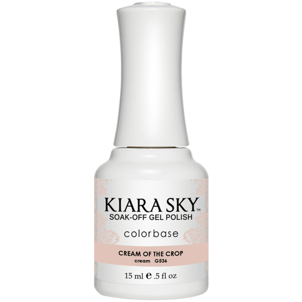 Kiara Sky Soak Off Gel Polish + Matching Lacquer - Aura Collection - CREAM OF THE CROP (G536)