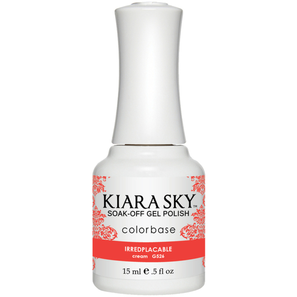 Kiara Sky Soak Off Gel Polish + Matching Lacquer - Sweet Indulgence Collection - IRREDPLACABLE (G526)