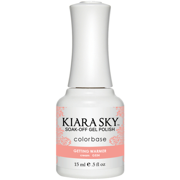 Kiara Sky Soak Off Gel Polish + Matching Lacquer - Aura Collection - GETTING WARMER (G534)