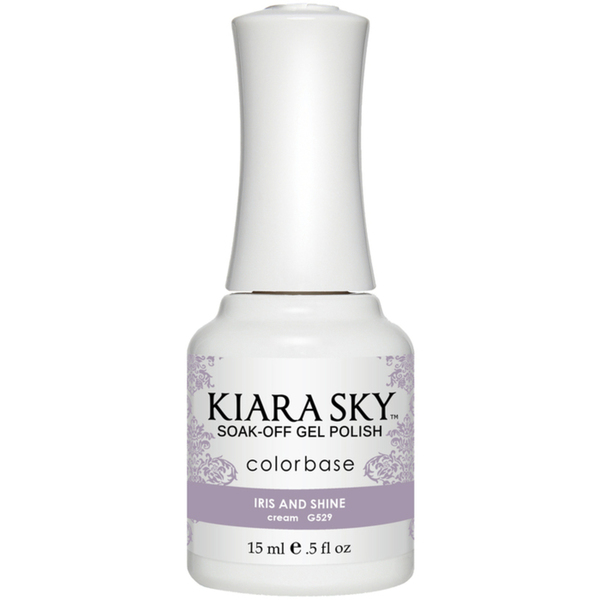Kiara Sky Soak Off Gel Polish + Matching Lacquer - Aura Collection - IRIS AND SHINE (G529)