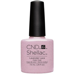 CND SHELLAC UV Color Coat - Summer 2016 Flirtation Collection - Lavender Lace 0.25 oz. - The 14 Day Manicure is Here! ()