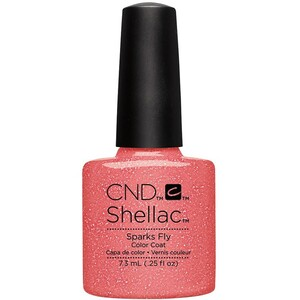 CND SHELLAC UV Color Coat - Summer 2016 Flirtation Collection - Sparks Fly 0.25 oz. - The 14 Day Manicure is Here! ()