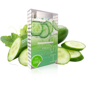 Voesh Deluxe Pedicure in a Box - 4-Step Hygienic Spa Pedicure Kit - Cucumber Fresh 1 Treatment Set by Voesh of New York