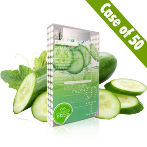Voesh Deluxe Pedicure in a Box - 4-Step Hygienic Spa Pedicure Kit - Cucumber Fresh Case of 50 Treatment Sets by Voesh of New York