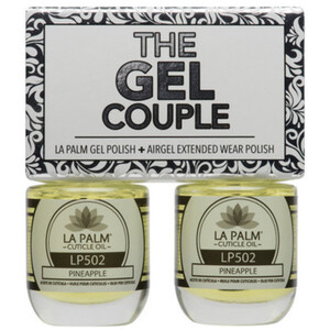 The Gel Couple - PINEAPPLE - La Palm Gel Polish 0.5 oz. + Airgel - Air Dry Extended Wear Polish 0.5 oz. by La Palm (LP502)