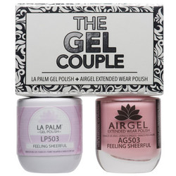 The Gel Couple - FEELING SHEERFUL - La Palm Gel Polish 0.5 oz. + Airgel - Air Dry Extended Wear Polish 0.5 oz. by La Palm (LP503)