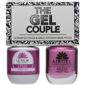 The Gel Couple - SWEET PEA - La Palm Gel Polish 0.5 oz. + Airgel - Air Dry Extended Wear Polish 0.5 oz. by La Palm (LP525)