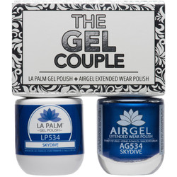 The Gel Couple - SKYDIVE - La Palm Gel Polish 0.5 oz. + Airgel - Air Dry Extended Wear Polish 0.5 oz. by La Palm (LP534)