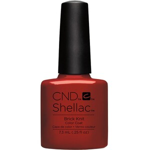 CND SHELLAC UV Color Coat - Fall 2016 Craft Culture Collection - Brick Knit 0.25 oz. - The 14 Day Manicure is Here! ()