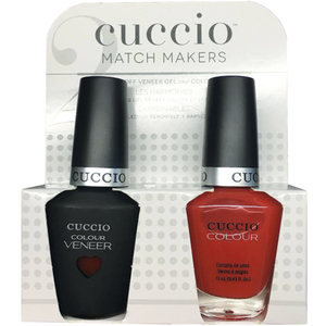 Cuccio Match Makers - Sweet Pink Collection - Bloody Mary Kit - 1 Nail Lacquer + 1 Matching Veneer Soak Off LEDUV Nail Colour 0.43 oz. Each (#6404)