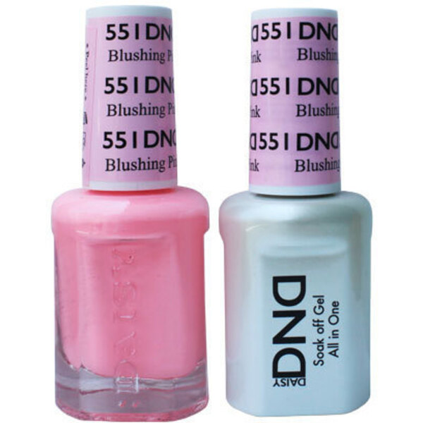 DND Duo GEL Pack - BLUSHING PINK 1 Gel Polish 0.47 oz. + 1 Lacquer 0.47 oz. in Matching Color (DND-G551)