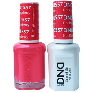 DND Duo GEL Pack - HOT RASPBERRY 1 Gel Polish 0.47 oz. + 1 Lacquer 0.47 oz. in Matching Color (DND-G557)