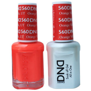 DND Duo GEL Pack - ORANGE VILLE UT 1 Gel Polish 0.47 oz. + 1 Lacquer 0.47 oz. in Matching Color (DND-G560)