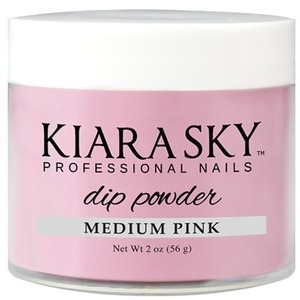 Kiara Sky Dip Powder - MEDIUM PINK 2 oz. (KSD2ozMP)