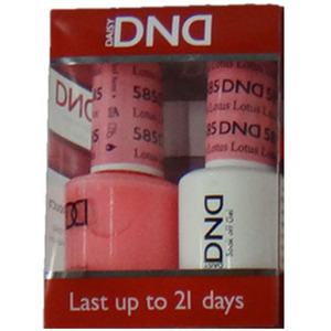 DND Duo GEL Pack - Diva Collection - LOTUS 1 Gel Polish 0.47 oz. + 1 Lacquer 0.47 oz. in Matching Color (DND-G585)