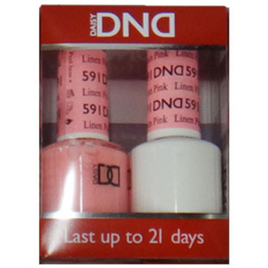 DND Duo GEL Pack - Diva Collection - LINEN PINK 1 Gel Polish 0.47 oz. + 1 Lacquer 0.47 oz. in Matching Color (DND-G591)