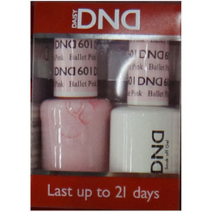 DND Duo GEL Pack - Diva Collection - BALLET PINK 1 Gel Polish 0.47 oz. + 1 Lacquer 0.47 oz. in Matching Color (DND-G601)