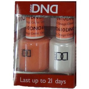 DND Duo GEL Pack - Diva Collection - ORANGE GROVE 1 Gel Polish 0.47 oz. + 1 Lacquer 0.47 oz. in Matching Color (DND-G610)