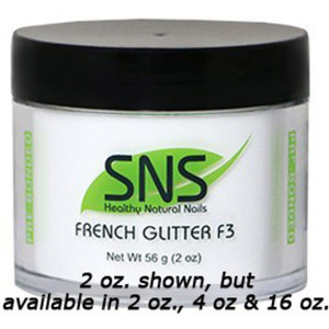 SNS French White Glitter F3 Dipping Powder - Pre-Bonded 2 oz. ()