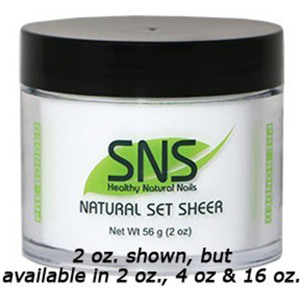 SNS Natural Set Sheer Dipping Powder - Pre-Bonded 2 oz. ()