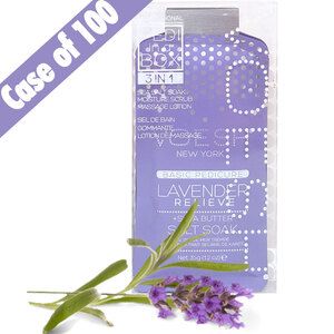 Voesh Basic Pedicure in a Box - 3-Step Hygienic Spa Pedicure Kit - Lavender Relieve Case of 100 Treatment Sets by Voesh of New York