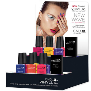 CND Vinylux - Spring 2017 New Wave Collection - 14 Piece Pop Display - 7 Day Air Dry Nail Polish (767143)