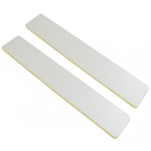 "Washable Jumbo WhitePeach Cushioned Nail Files - 7""L x 1-18""W - Grit 8080 - 50 Pack ()"